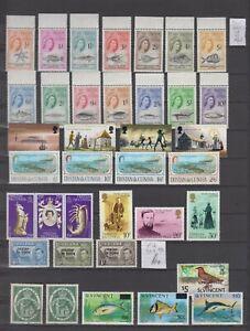 Tritan Da Cunha sel OGNH 1960--->  and 6x St Vincent cv= SG £ 77