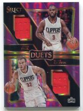 2016-17 Select Duets Prizms Purple 4 Blake Griffin Chris Paul Dual Jersey 26/99
