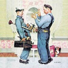 """Norman Rockwell Famous Artwork Cleaning Cloth """"Plumbers"""""""