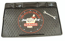 Work Bench Mat Busted Knuckle Rubber with Pockets  USA Made - FREE Decals!