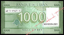 2016 NEW DATE 1000 Livres new serial number design & security features UNC LIBAN