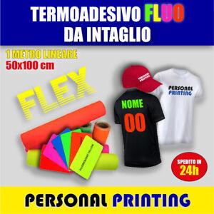 TERMOADESIVO TRANSFER FLEX FLUO per stampa t-shirt plotter taglio tessuti CAMEO