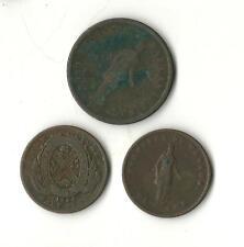 1837 Penny,1844 Half Penny,1852 Half Penny Copper Canadian Bank Token Coinage