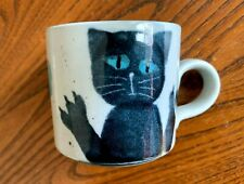 "Individual crafted Small Stoneware Cat Mug  2.5"" high, 2.75"" diameter NEW"