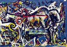 Jackson Pollock el ella Wolf Fine Art Canvas Icónico Retro De Pared De 20 X 30 Nuevo