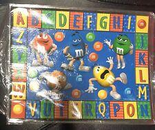 2002 M&M's Brand Alphabet Magnets - Fridge Magnet 00004000  - Educational Placemat, Etc.