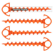 4 Small Orange Screws and 1 Clear Drive Tool The Ultimate Ground Anchor