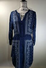 Old Navy blue shirt dress with button front and tie waist Women's Sz XL