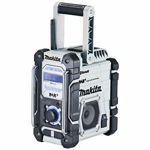Makita DMR112W Netz- und Akku-Baustellenradio 7,2-18V Bluetooth AUX USB
