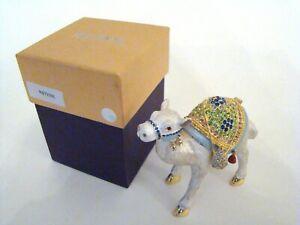 RUCINNI Jeweled Trinket Hinged Box - Gorgeous Sparkle Camel Jeweled