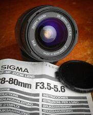 Sigma ZOOM 28-80 mm F 3,5-5,6 Canon EF en panne pour réparation ou pièces