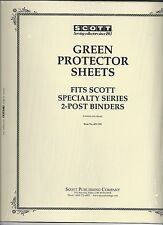 Pkg. of 2 Scott ACC101 Green Protector Sheets for 2-Post SCOTT Binders