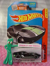 Case L 2015 Hot Wheels FORD SHELBY GR-1 CONCEPT #178∞Black/Green;pr5∞Track Aces