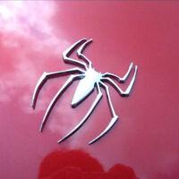 Metal Spider Shape Chrome 3D Car Body Emblem Decal Badge Sticker Accessories