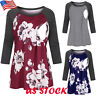 Womens Striped Floral Nursing Tops Maternity Casual Breastfeeding T Shirt Blouse