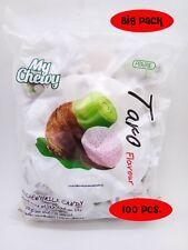 CHEWY MILK FRUIT CANDY 100 pcs TOFFEE HAOLIYUAN BRAND THAI DESSERT TARO FLAVOR