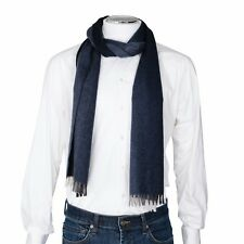 Prada Men's Navy Blue Cashmere Scarf