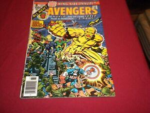 IA1 Avengers Annual #6 marvel 1976 bronze age 5.0/vg/fn comic! NUKLO!