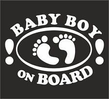 Baby Boy a Bordo/Paraurti Bambino Finestra Auto Adesivo Decalcomania Segno