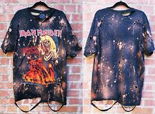 Iron Maiden bleached distressed t shirt S-XL 2 Licensed