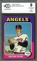 Nolan Ryan Card 1975 Topps #500 California Angels BGS BCCG 8