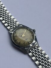 Bulova Vintage 1950's Mens Watch 10AK Movt Super Rare Radium Floral Dial Repair
