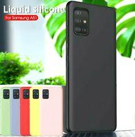 Coque Pour Samsung Galaxy A51 Étui Coloré Silicone Souple TPU + Verre HD