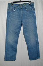 Men's 7 For All Mankind Slouchy Relaxed Straight Leg Jeans Size 34x31 Woodstock