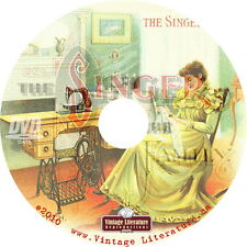 History of Singer Antique Sewing Machines { Catalogs & Patterns}  on DVD