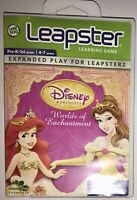LeapFrog Leapster Disney WORLDS OF ENCHANTMENT Pre K-1st 4-7 Yrs.~ Expanded Play