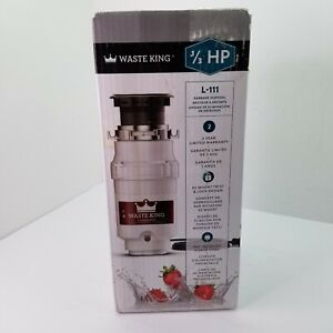 Waste King L-111, Garbage Disposal with Power Cord, 1/3 HP      T207
