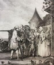 Moreau Jean-Michel le Seigneur chez son fermier XVIII retirage XXe