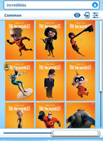Topps Disney Collect - The Incredibles Characters common set with award DIGITAL