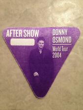 Donny Osmond - World Tour 2004 - After Show 00002653  Pass - Purple