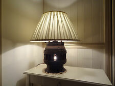 Vintage Lamp from cartwheel hub - unique design with two bulbs, beautiful lamp