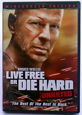 Live Free or Die Hard Unrated Widescreen Movies Bruce Willis Timothy Olypha