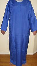 Egyptian Cotton Casual Men Galabia Royal Blue Sleepwear X-Large
