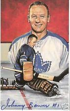 Johnny Bower Autographed Hockey Legends Card HOFer