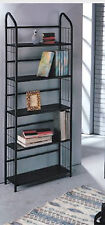 Classic style Metal Constructed 5-Tier Book Shelf With Black Painted Finish-Asdi