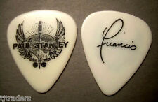 Rare KISS Paul Stanley Live to Win logo black on white tech guitar pick! Nice!!!