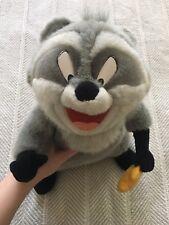 RARE Vintage Disneyland Disneyworld Meeko Pocahontas Raccoon Large Plush Animal