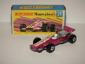 MATCHBOX SUPERFAST VINTAGE FORMULA 1 RACING CAR No.34 MINT IN VNM G2 BOX 1971