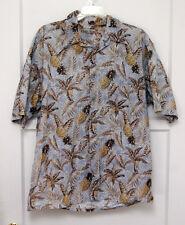Holis River Hawaiian Shirt - Pineapple, Palms, Elephant ear - SZ L