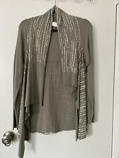 NWNT SARAH PACINI Womens One Size Gray Open Front Cardigan Sweater