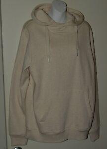 DENIMLAB Hooded Sweatshirt Off White Size Large Adult Men Light Used Excellent