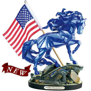 Wild Blue Painted Pony Figurine