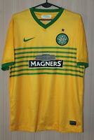 Celtic Glasgow 2013 2014 Away Yellow Nike Shirt Jersey Trikot Kit Size adults M