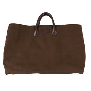 $2950 TOM FORD Extra-Large Canvas and Leather Carryall Weekend Tote Bag