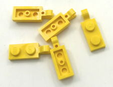Lego 5 New Yellow Plates Modified 1 x 2 Dot with Clip Horizontal on End Parts