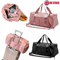 Lady Sport Duffle Bag Travel Handbag Overnight Weekend Gym Yoga Luggage Tote UK